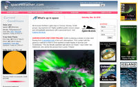 Lien vers le site Spaceweather.com
